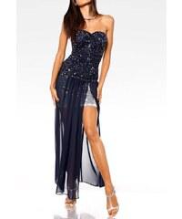 Carry Allen Večerní dvoudílné šaty půlnoční modř