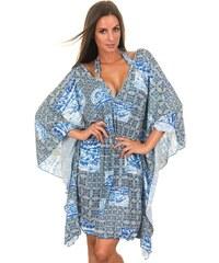 Maryssil Robe De Plage Bleue Motif Mosaïque - Iberia
