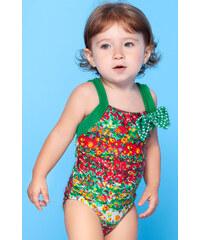 Requinho Maillot De Bain Une Pièce Fleuri Multicolore Pour Petite Fille - Monet Baby