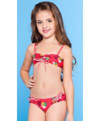Requinho Deux-pièces Rouge Pour Fille, Motifs Ananas Et Pois - Abacaxi Kids