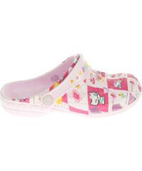 Coqui 8713 pink dívčí plážové pantofle