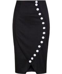 Lindy Bop LindyBop retro pouzdrová sukně Samantha, černá velikosti: 48