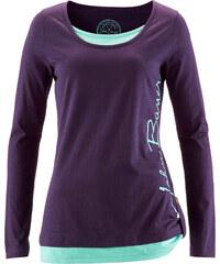 John Baner JEANSWEAR T-shirt manches longues violet femme - bonprix