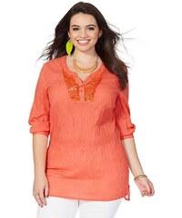 Tunika pro plnoštíhlé SHEEGO, dámské tuniky 48 oranžová