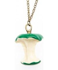 ZOYO Vtipný náhrdelník retro okousané jablko - zelené