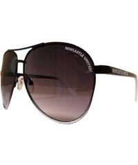 Sluneční brýle NUFC Aviator černá/bílá