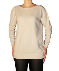 VesTem Jemný dámský béžový vzorkovaný svetr