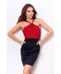NUMOCO šaty dámské 15-2 s páskem a kapsami 2399747cac