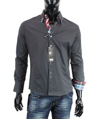 CARISMA košile pánská H-110 dlouhý rukáv slim fit asfalt ac095a1534
