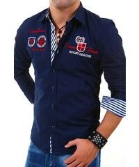 CARISMA košile pánská 8004 dlouhý rukáv slim fit tmavě modrá cbc2f65c5b