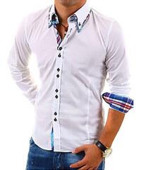 CARISMA košile pánská H-110 dlouhý rukáv slim fit bílá 3e3adef4c0