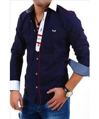 CARISMA košile pánská 8037 dlouhý rukáv slim fit tmavě modrá