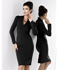 48aa8df3c8e KARTES MODA šaty KM082 černé úpletové na každou příležitost