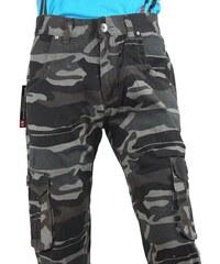 QUATRO kalhoty pánské kapsáče maskáče R1-1
