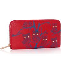 L&S Fashion (Anglie) Peněženka LSP1046 červená