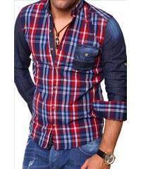 CARISMA košile pánská 8127 dlouhý rukáv slim fit tmavě modrá