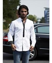 CARISMA košile pánská 8119 dlouhý rukáv slim fit bílá