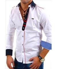 CARISMA košile pánská 8037 dlouhý rukáv slim fit bílá