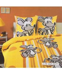 Home Linen Parure housse de couette en 100% coton - La vie vous sourit 240x220 cm + 2 taies d'oreiller 65x65 cm