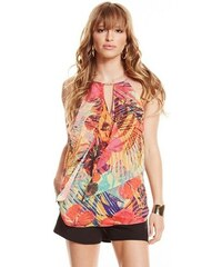 Guess by Marciano Halenka Hot House Hibiscus Top