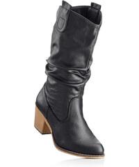 bpc bonprix collection Bottes noir avec 6 cm talon carréchaussures & accessoires - bonprix