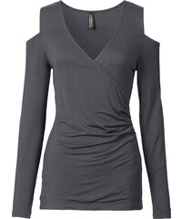 BODYFLIRT boutique Top gris femme - bonprix