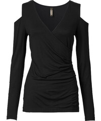 BODYFLIRT boutique Top noir femme - bonprix