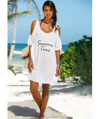 bpc selection T-shirt de plage blanc maillots de bain - bonprix