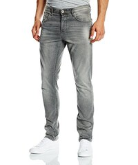 TOM TAILOR Denim Herren Slim Jeanshose Aedan Grey Stretch Denim/501