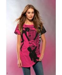 Dámské stylové tričko růžové s potiskem