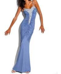 Carry Allen Návrhářské večerní šaty modré