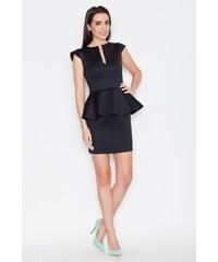 Dámské peplum šaty Katrus K273 černé