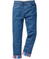 John Baner JEANSWEAR Pantalon thermo avec doublure flanelle chaude, T. 116-170 bleu enfant - bonprix