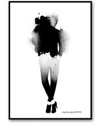 Magdalena Tyboni DESIGN Akvarelový plakát Fashion 50 x 70 cm