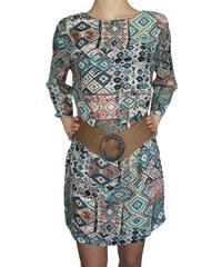 VesTem Dámské barevné šaty volného střihu