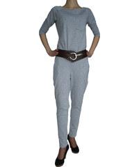VesTem Dámský klasický šedý overal s kapsou