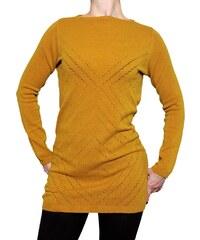 VesTem Dámská tmavě žlutá tunika Wendy Trendy se vzorem