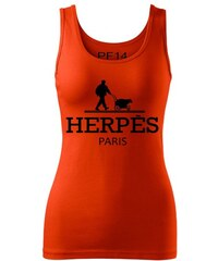 PF14 - Parody Fashion Ladies Tank Top Herpés Orange Barva: oranžová, Velikost: M