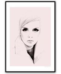 Magdalena Tyboni DESIGN Plakát Pink Twiggy 50 x 70 cm