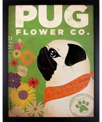 Home affaire gerahmter Kunstdruck »Happy Pug«, 33/43 cm