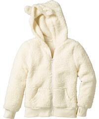 bpc bonprix collection Gilet en synthétique imitation fourrure peluche blanc manches longues enfant - bonprix