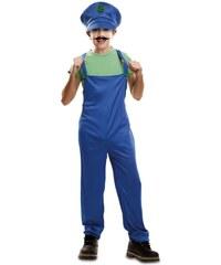 Dětský kostým Zelený instalatér Pro věk (roků) 10-12