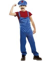 Dětský kostým Červený instalatér Pro věk (roků) 10-12