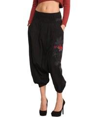 Dámské kalhoty Desigual Etnic černá 26