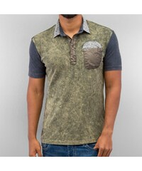 Just Rhyse Flower Polo Shirt Khaki