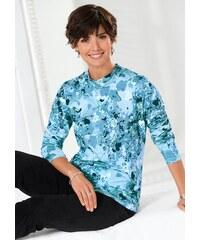 CLASSIC BASICS Damen Classic Basics Shirt mit schmeichelndem Stehkragen blau 38,40,42,44,46,48,50,52,54