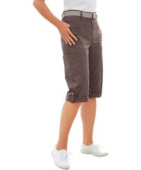 COLLECTION L. Damen Collection L. Capri-Hose mit figurfreundlicher Teilungsnaht vorne blau 36,38,40,42,44,46,48,50,52,54