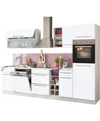HELD MÖBEL Küchenzeile Avignon mit E-Geräten Breite 300 cm weiß