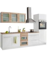 HELD MÖBEL Küchenzeile Malta mit E-Geräten Breite 290 cm weiß