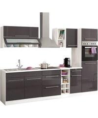 HELD MÖBEL Küchenzeile Avignon mit E-Geräten Breite 290 cm grau